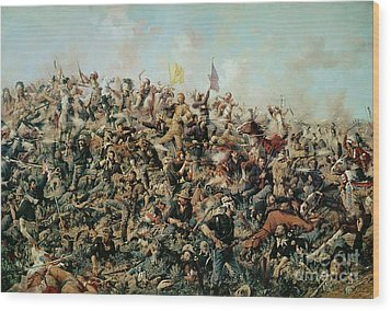 Custer's Last Stand Wood Print by Edgar Samuel Paxson
