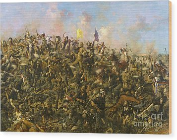 Custer's Last Stand Wood Print by Pg Reproductions
