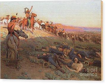 Custer's Last Stand Wood Print by Richard Lorenz