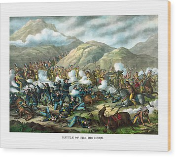 Custer's Last Stand Wood Print by War Is Hell Store