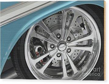 Custom Car Wheel Wood Print by Oleksiy Maksymenko