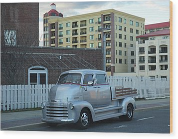 Wood Print featuring the photograph Custom Chevy Asbury Park Nj by Terry DeLuco