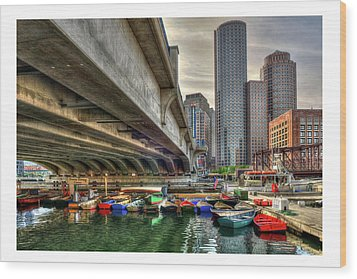 Wood Print featuring the photograph Custom Order - Boston Rowing Center by Joann Vitali