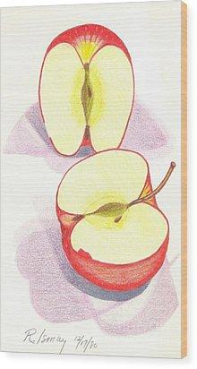 Cut Apple Wood Print by Rod Ismay