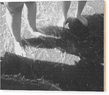 Cute Feet Wood Print by Scarlett Royal