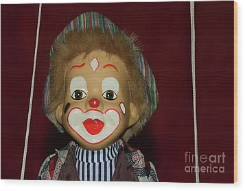 Wood Print featuring the photograph Cute Little Clown By Kaye Menner by Kaye Menner