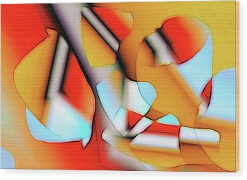Cutouts Wood Print by Ron Bissett