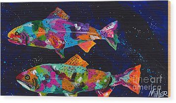 Cutthroats Wood Print by Tracy Miller