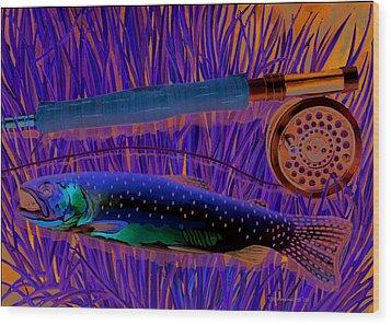 Cuttin' The Grass Wood Print by Mark Jennings