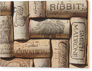 Cuvaison Wood Print by Anthony Jones