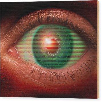 Cybernetic Eye Wood Print by Victor Habbick Visions