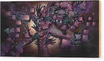 Cyberspatial Telepathy Wood Print by George Atherton