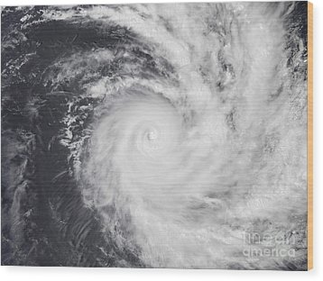 Cyclone Zoe In The South Pacific Ocean Wood Print by Stocktrek Images