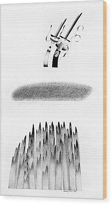 Cycloptic Honeymoon Wood Print by Tony Paine