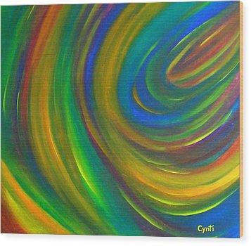 Wood Print featuring the painting Cynti by Cyryn Fyrcyd