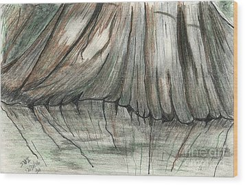 Cypress Reflections Wood Print by Theresa Willingham
