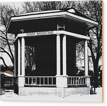 Czech Village Bandstand Wood Print by Marsha Heiken