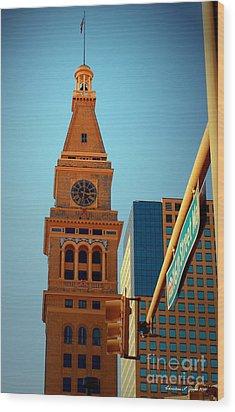 D-f Clock Tower Wood Print