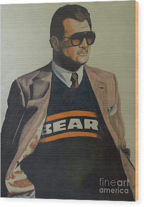 Da Coach Ditka Wood Print
