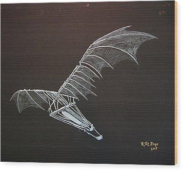 Da Vinci Flying Machine Wood Print