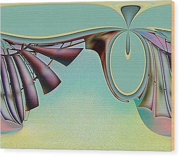 Da Vinci's Nudge Wood Print by Wendy J St Christopher