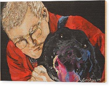 Daddy And Borus Wood Print by Laura  Grisham
