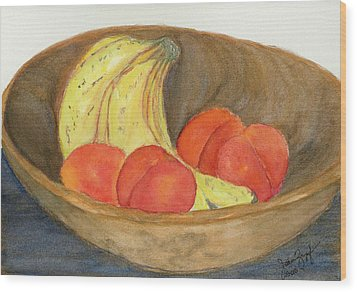 Daddy's Wooden Bowl Wood Print by Joan Zepf