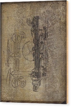 Dads Clarinet Wood Print by Jeffrey Jensen
