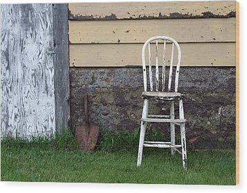 Dads High Chair Wood Print by Lauri Novak