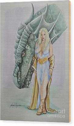 Daenerys Targaryen - Game Of Thrones Wood Print