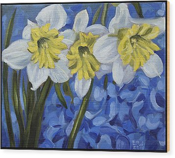 Daffodils Wood Print by Edward Williams