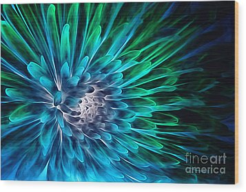 Dahlia Abstract Vibrance Wood Print