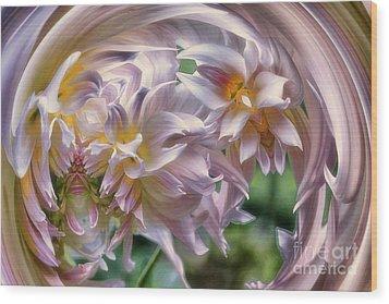 Dahlia Ecstasy Wood Print
