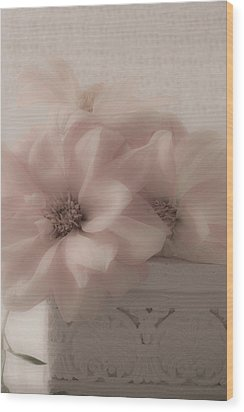 Dahlias Oh So Soft Wood Print by Sandra Foster