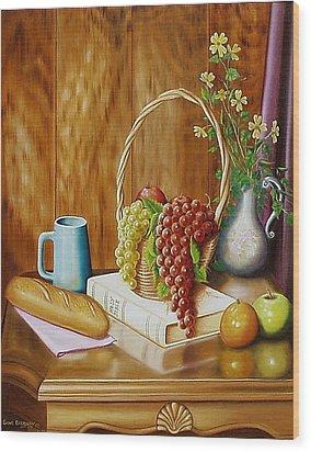 Daily Bread Wood Print