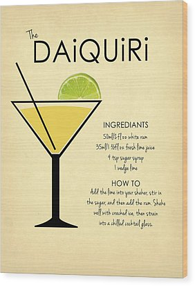 Daiquiri Wood Print by Mark Rogan
