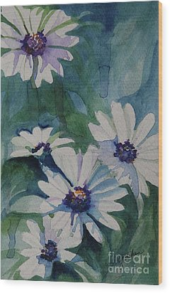 Daisies In The Blue Wood Print by Gretchen Bjornson