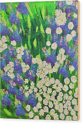 Daisy And Glads Wood Print