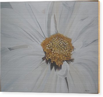Wood Print featuring the painting Daisy by Betty-Anne McDonald