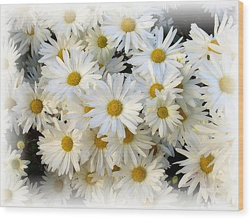 Daisy Bouquet Wood Print by Carol Sweetwood