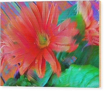 Daisy Fun Wood Print