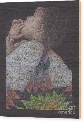 Dakota Babe Wood Print