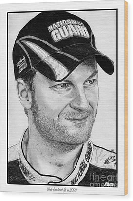 Dale Earnhardt Jr In 2009 Wood Print by J McCombie