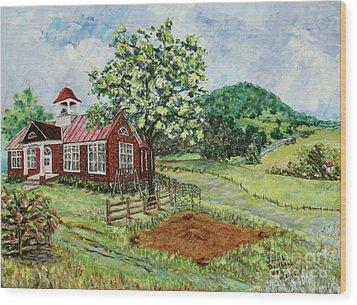Dale Enterprise School Wood Print by Judith Espinoza