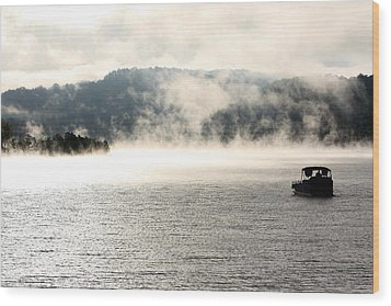 Dale Hollow Morning Fishing Wood Print