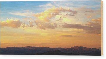 Dali's Sky Wood Print by Mike Hill