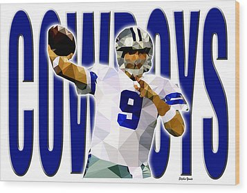 Wood Print featuring the digital art Dallas Cowboys by Stephen Younts