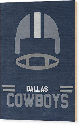 Dallas Cowboys Vintage Art Wood Print by Joe Hamilton