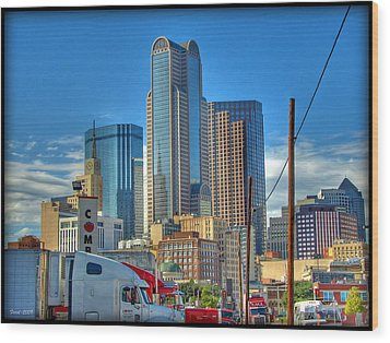 Wood Print featuring the photograph Dallas Morning Skyline by Farol Tomson