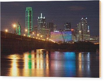 Dallas Reflections Wood Print